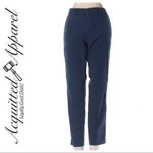 VINCE Skinny Ankle Navy Blue Pants Crop Stretch